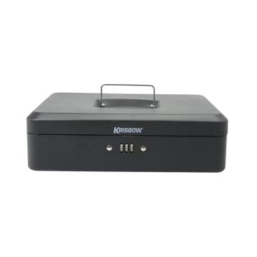 KRISBOW CASH BOX DENGAN NOMOR KOMBINASI 30 CM - HITAM_1