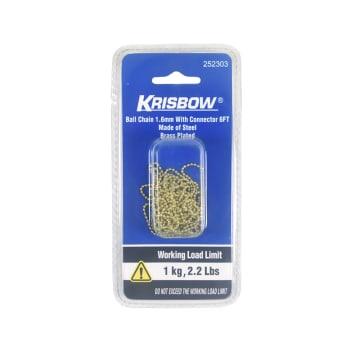 KRISBOW RANTAI DEKORASI 1.6 MM - GOLD_1