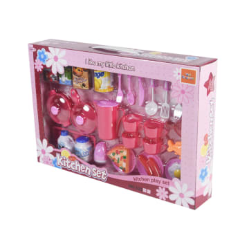 SET MAINAN KITCHEN PLAYSET 26 PCS - PINK_2