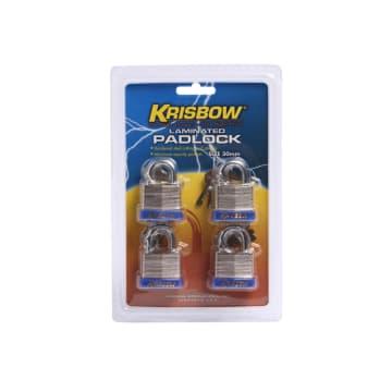 KRISBOW SET GEMBOK BESI LAMINASI 3 CM 4 PCS_1