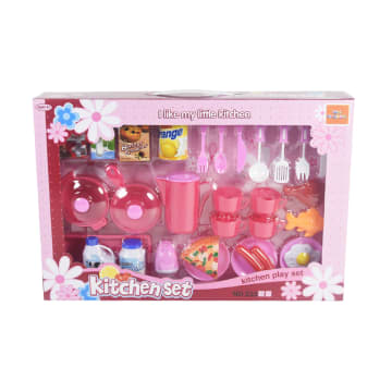 SET MAINAN KITCHEN PLAYSET 26 PCS - PINK_1