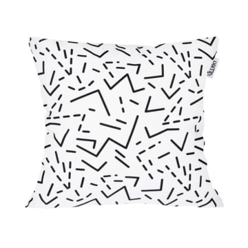 GLERRY HOME DECOR BANTAL SOFA BLACK LINE 40X40 CM_1