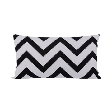 GLERRY HOME DECOR BANTAL SOFA BLACK CHEVRON 50X30CM_1