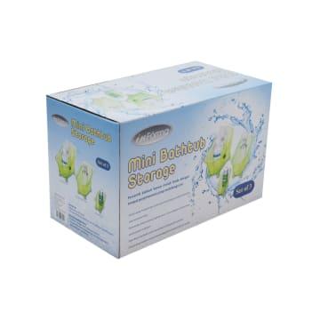 SET TEMPAT PENYIMPANAN SERBAGUNA BENTUK BATHTUB 3 PCS- HIJAU_2