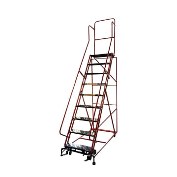 KRISBOW TANGGA DORONG 6 STEP 1,6 M - MERAH_1
