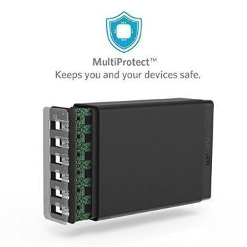 ANKER CHARGER HUB POWERPORT 6 USB A2123 - HITAM_3