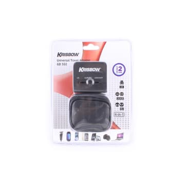 KRISBOW TRAVEL ADAPTOR - HITAM_1