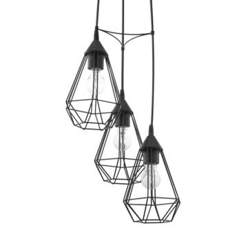 EGLO TARBES LAMPU GANTUNG HIAS 3L ROUND - HITAM_1
