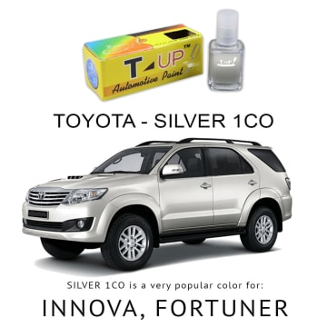 T-UP CAT OLES  SILVER 1CO PENGHILANG GORES TOYOTA FORTUNER INNOVA 18 ML_1