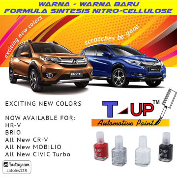 T-UP CAT OLES VIVID BLUE METALLIC PENGHILANG GORES HONDA 18 ML_2