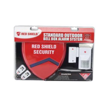 RED SHIELD BELL BOX SET SISTEM ALARM PINTU_1