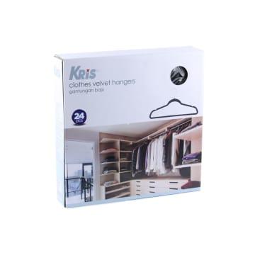 KRIS SET HANGER PLASTIK 24 PCS - HITAM_2