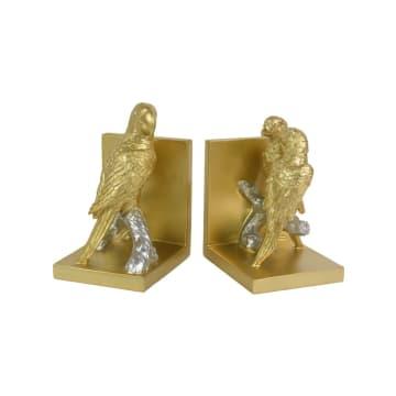 BOOKEND PENGGANJAL BUKU PARROT 30.3X12X21 CM - GOLD_2