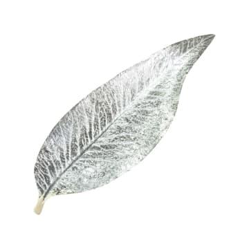 MINIATUR DEKORASI DAUN POLYRESIN 61.5X5X20.5 CM - SILVER_1
