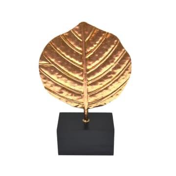 MINIATUR DEKORASI DAUN 30.5 CM - GOLD_1