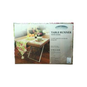 TABLE RUNNER DENGAN HIASAN TASSEL 728 35X200 CM_2