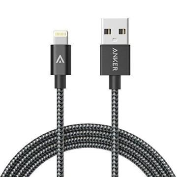 ANKER NYLON BRAIDED USB TO LIGHTNING MFI 3FT/0.9M - GRAY_1