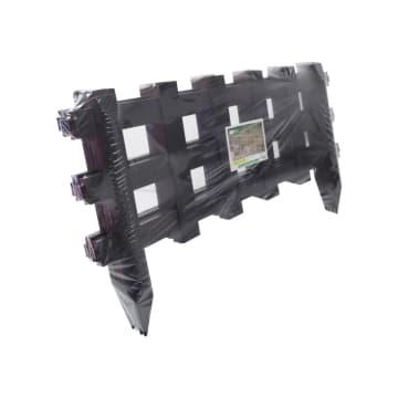 SET PAGAR TAMAN PLASTIK WLK-053 4 PCS - HITAM_2