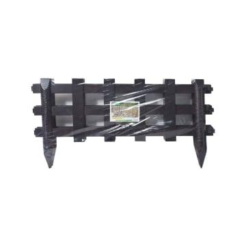 SET PAGAR TAMAN PLASTIK WLK-053 4 PCS - HITAM_1