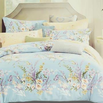 BED COVER DAISY 240X210 CM - BIRU_1