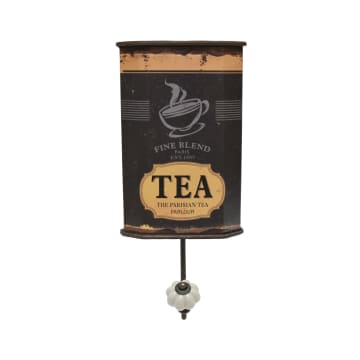GANTUNGAN DINDING SERBAGUNA MOTIF TEA - COKELAT_1