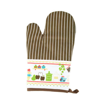 ARTHOME SET CELEMEK DAPUR MOTIF FUN KITCHEN COKELAT - 3 PCS_2