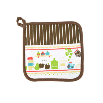 ARTHOME SET CELEMEK DAPUR MOTIF FUN KITCHEN COKELAT - 3 PCS_3