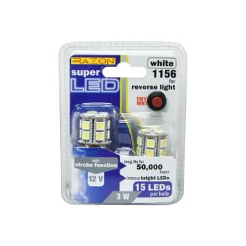 RAZON SET LAMPU MUNDUR MOBIL LED 3W 2 PCS - PUTIH_1