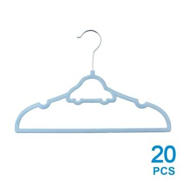 SET HANGER PLASTIK BAJU ANAK 20 PCS - BIRU_1