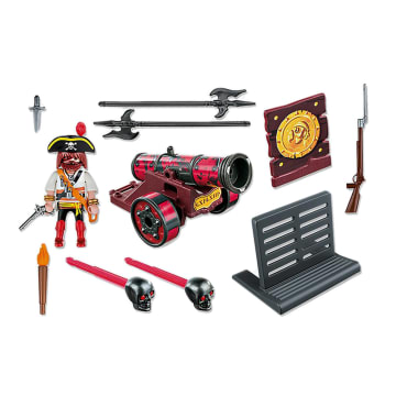 PLAYMOBIL RED IN CANNON WITH BUCCANEER 6163_2