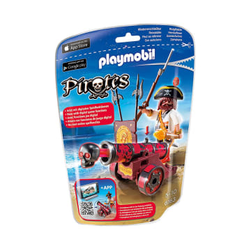 PLAYMOBIL RED IN CANNON WITH BUCCANEER 6163_1