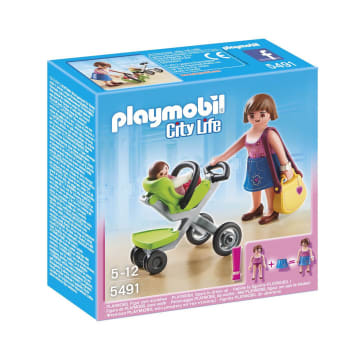 PLAYMOBIL MOTHER WITH INFANT STROLLER 5491_1