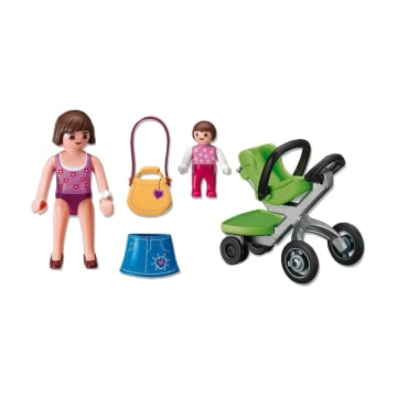 PLAYMOBIL MOTHER WITH INFANT STROLLER 5491_2