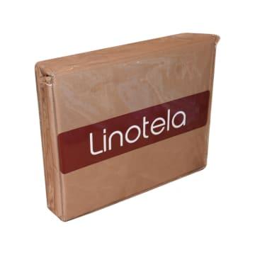 LINOTELA DUVET COVER TWO TONE 260X230 CM - COKELAT PINK_2
