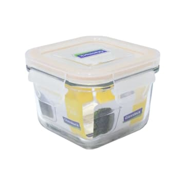 GLASSLOCK WADAH MAKANAN SQUARE 210 ML - KUNING_1