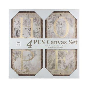 HIASAN DINDING 66.5X64X3.5 CM SET 4 PCS HOPE_1