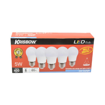 KRISBOW SET BOHLAM LED 5W 5 PCS - COOL DAYLIGHT_2