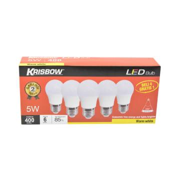 KRISBOW SET BOHLAM LED 5W 5 PCS - WARM WHITE_2