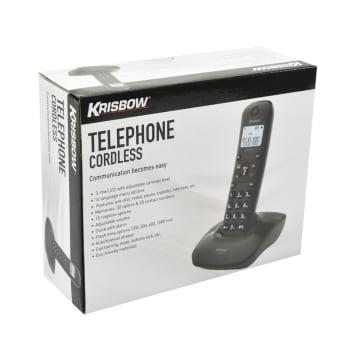 KRISBOW TELEPON TANPA KABEL 802 - HITAM_3