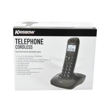 KRISBOW TELEPON TANPA KABEL 802 - HITAM_2