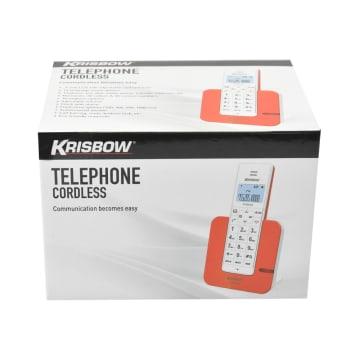 KRISBOW TELEPON TANPA KABEL 803 - PUTIH_2