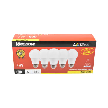 KRISBOW SET BOHLAM LED 7W 5 PCS - WARM WHITE_2