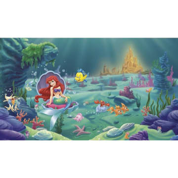 Disney Little Mermaid Chair Rail Mural WALLPAPER_2
