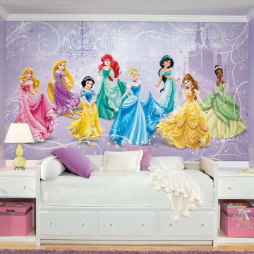 Disney Princess Royal Chair Rail Mural WALLPAPER_1