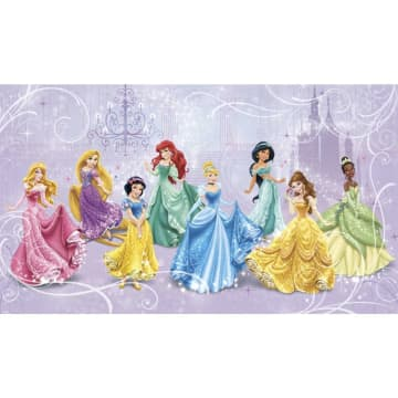 Disney Princess Royal Chair Rail Mural WALLPAPER_2