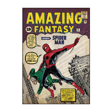 Marvel Wall Sticker Spiderman First Peel & Stick Comic Book Cover_1