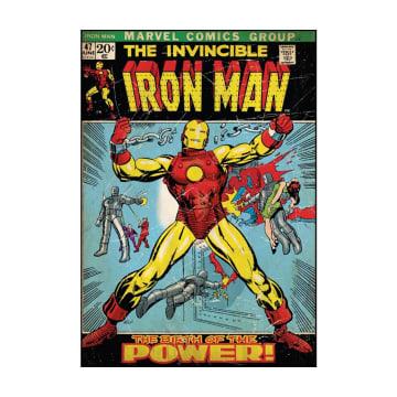 Marvel Wall Sticker Iron Man Peel & Stick Comic Book Cover_1