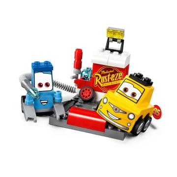 Disney Lego Juniors Guido And Luigi'S Pit Stop 10732_1