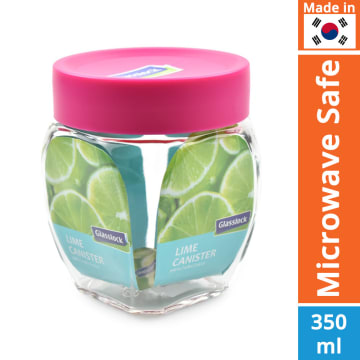 GLASSLOCK STOPLES LIME 350 ML - PINK_1