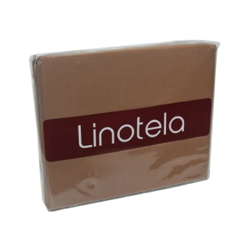 LINOTELA DUVET COVER 240X210 CM TWO TONE - COFFEE PINK_2